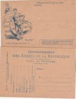 Carte Franchise Militaire Type A2 Illustration 5 Les Chars D' Assaut Dessin Scott - Propagande Pour Emprunt Libération - Postmark Collection (Covers)