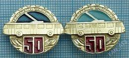 USSR /  Badges  / Soviet Union / UKRAINE. Kiev Trolley Bus 50 Years. Auto. Transport 1986 - Pins