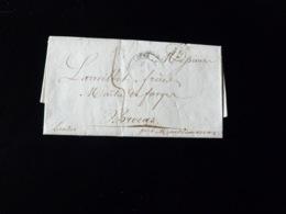 LETTRE DE TOULOUSE POUR BROCAS  -  1837  - - Marcophilie (Lettres)