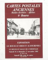 Cp, Bourses & Salons De Collections, 33, Bordeaux Caudéran, 6 E Bourse Cartes Postales Anciennes ,bandes Déssinées - Borse E Saloni Del Collezionismo