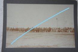 Photo ABL Artillerie à Cheval Montée Pre 1914 Canon Batterie Militaria Armée Belge Belgische Leger - Guerre, Militaire