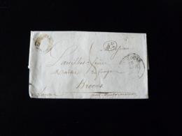 LETTRE DE TOULOUSE POUR BROCAS  -  1838  - - Marcophilie (Lettres)