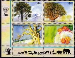 UNO-New York, 2010,  1185/88,  MNH **,   Gefährdete Arten (XVIII): Pflanzen. - Unused Stamps