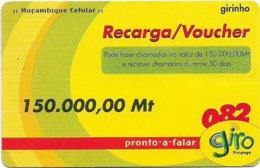 Mozambique - Giro - Girinho Yellow, 150.000MT, Exp.31.12.2004, Used - Moçambique