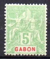 Col17  Colonie Gabon  N° 19 Neuf X MH Cote  4,00€ - Neufs