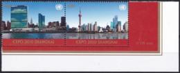 UNO-New York, 2010,  1224/25,  MNH **,   Weltausstellung EXPO 2010, Shanghai, - New-York - Siège De L'ONU