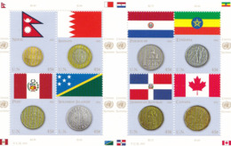UNO-New York, 2012,  1294/01,  MNH **, Flaggen Und Münzen Der Mitgliedstaaten (VI). - New York - Sede Centrale Delle NU
