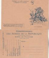Carte Franchise Militaire Type A2 Illustration 11 CAVALERIE Dessin Scott - Propagande Pour Emprunt Libération - Cartes De Franchise Militaire
