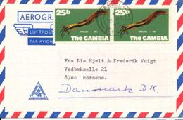 Gambia Aerogramme Sent To Denmark 6-3-1975 - Gambia (1965-...)