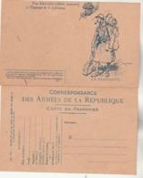 Carte Franchise Militaire Type A2 Illustration 12 LE FANTASSIN Dessin Scott - Propagande Pour Emprunt Libération - Cartes De Franchise Militaire