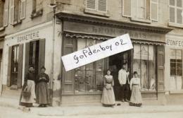 02 Vic Sur Aisne, Rare Carte Photo, Bonneterie Leon Calais, - Vic Sur Aisne