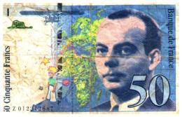 Monnaies & Billets > Billets > France >  50  Fra  1993  ''St Exupéry'' - 1992-2000 Ultima Gama