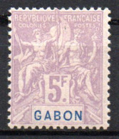Col17  Colonie Gabon  N° 32 Neuf X MH Signé Magnifique Cote  150,00€ - Neufs