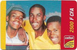 Niger - Celtel - 3 Boys, Prepaid 2.500Fcfa, Exp.31.12.2004, Used - Niger