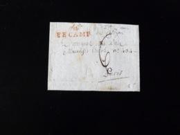 LETTRE DE FECAMP POUR PARIS  -  1797  - - 1701-1800: Voorlopers XVIII