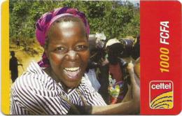 Niger - Celtel - Smiling Yound Girl, Prepaid 1.000Fcfa, Exp.31.12.2005, Used - Niger
