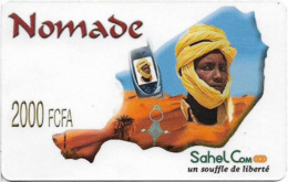 Niger - Sahel Com - Nomade Man And Desert, Prepaid 2.000Fcfa, Exp.26.01.2005, Used - Niger