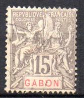 Col17  Colonie Gabon  N° 21 Oblitéré Cote  10,00€ - Gabon (1886-1936)