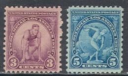 0025.1 ✅ Sport Olympic Games Los Angeles 1932 USA 2v Set MNH VF ** - Sommer 1932: Los Angeles