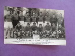 PHOTO EQUIPE DE FOOT FOOTBALLEURS FRANCE BELGIQUE NOVEMBRE 1954 - Sports