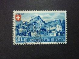 SUISSE, Année 1945, YT N° 422 Oblitéré (cote 32,50 EUR) - Gebruikt