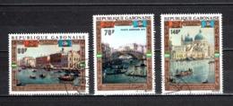 GABON  PA  N° 124 à  126  OBLITERES  COTE 5.75€    SAUVEGARDE DE VENISE UNESCO - Gabun (1960-...)