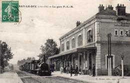 21 Arnay Le Duc, La Gare, Train - Arnay Le Duc