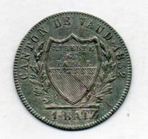 Suisse Canton VAUD, 1 Batzen, Billon, 1832, KM #20 - Suiza