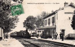 21 Pouilly En Auxois , La Gare, Train - Francia