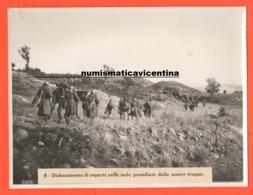 Artiglieria Sommeggiata Muli E Soldati Regio Esercito Fronte Greco Albanese Foto Luce Anni '40 - Guerre, Militaire