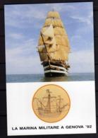 ITALIA 1992 LA MARINA MILITARE A GENOVA 92 VELIERO NAVE SCUOLA AMERIGO VESPUCCI CARTOLINA NUOVA UNUSED CARD - Segelboote