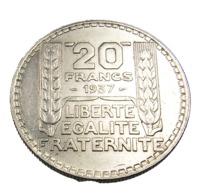 20 Francs - Turin - France -  1937 - Argent - TTB + - - L. 20 Franchi