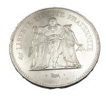 50 Francs - Hercule - France -  1975 - Argent -  Sup - - M. 50 Francs