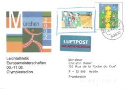 2002 Championnats D'Europe D'Athlétisme à Munich: Entier Postal - Athlétisme