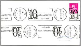 Rodillo 10 AÑOS ANDALUCIA VIVA. Almeria 1989 - 1931-Hoy: 2ª República - ... Juan Carlos I