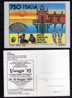 ITALIA 1992 ANTICHI STABILIMENTI BALNEARI VIAREGGIO 93 CONVEGNO FILATELICO 1993 CARTOLINA NUOVA UNUSED CARD - Viareggio