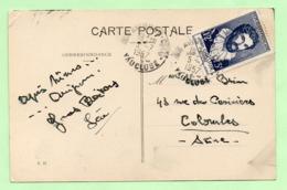 TIMBRE Surtaxe JEAN GOUJON Seul Sur CP - 5/7/57 - - Marcophilie (Lettres)