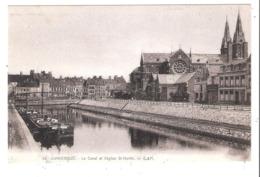 Péniches Sur Le Canal à Dunkerque (59 - Nord) - Houseboats