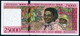 Madagascar 1998 25000 Francs  UNC   Neuf  Parfait - Madagascar
