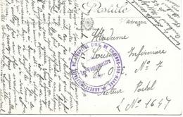 51- Cachet Annexe Militaire De L'Hopital Civil De Chalons/Marne Sur Belle CP Du Marché En 1917 - Postmark Collection (Covers)