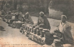 Maroc Meknes Marchands De Casra Pain Indigene + Timbre Cachet 1930 - Meknès