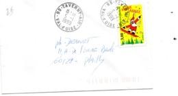 Base Aérienne Avec Cachet Rond Air De Taverny - Poststempel (Briefe)