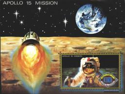 Umm Al Qaiwain Block41 (complete Issue) Unmounted Mint / Never Hinged 1972 Apollo 15 - Umm Al-Qiwain
