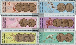 North Yemen (Arab Republic.) 796-801 (complete Issue) Fine Used / Cancelled 1968 Gold Medals Olympic. Games - Yemen
