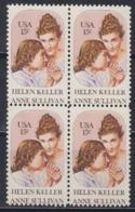 USA 1980 Helen Keller & Anne Sullivan 1v Bl Of 4 ** Mnh (45085A) - Ongebruikt