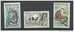 "Madagascar YT 357 à 359 "" Lémuriens "" 1961 Neuf** - Madagascar (1960-...)"