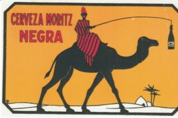CERVEZA MORITZ  NEGRA  -  Riproduzione Da Originale - Reclame