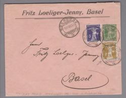 Heimat CH Rasierklingen-O #2.03 Basel 1909-12-03 Ankunft-O Privatganzsache - Suisse