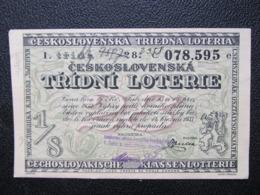 LOS Lotterie Lotterielos 1933 Ceskoslovensko Czechoslovakia  ///  D*40670 - Lotterielose