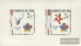 Cuba Block22 (complete Issue) Unmounted Mint / Never Hinged 1962 World Festival The Youth - Cuba